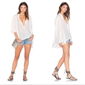 Free People Lively Day Button Down Flowy Top
